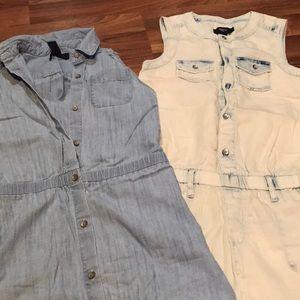 Girls Gap Jean Sleeveless Dress and Romper